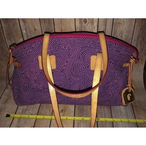 Dooney & Bourke Purple Heart Graffiti Canvas Tote